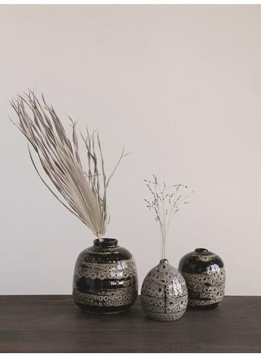Warm Design 3'Lü Set Terracotta Vazolar Kahve